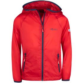 TROLLKIDS Fjell Running Jacket Kids bright red/mystic blue